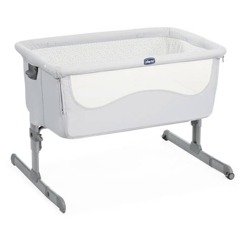 Cuna de Colecho Next2me Light Grey Chicco
